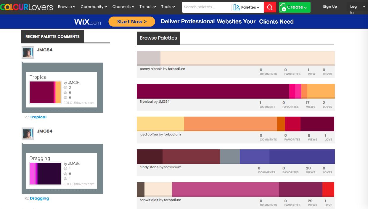 browse palettes - データベース系カラーツールまとめ