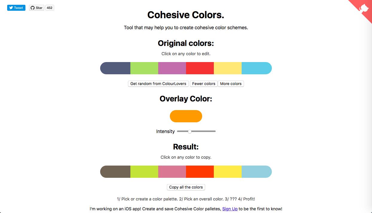 cohesive colors - AI (人工知能)・ワンクリック系カラーツールまとめ