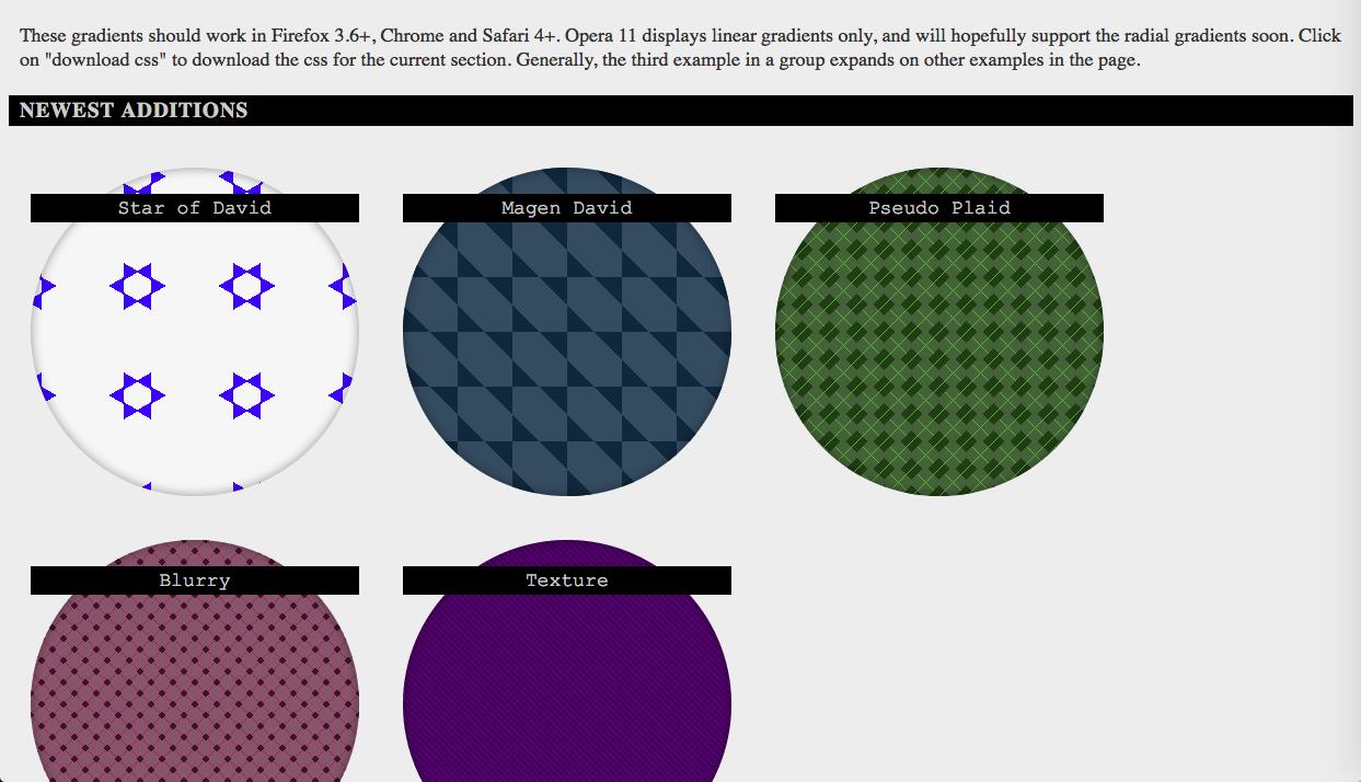 css3 gradients - グラデーション関連のカラーツールまとめ