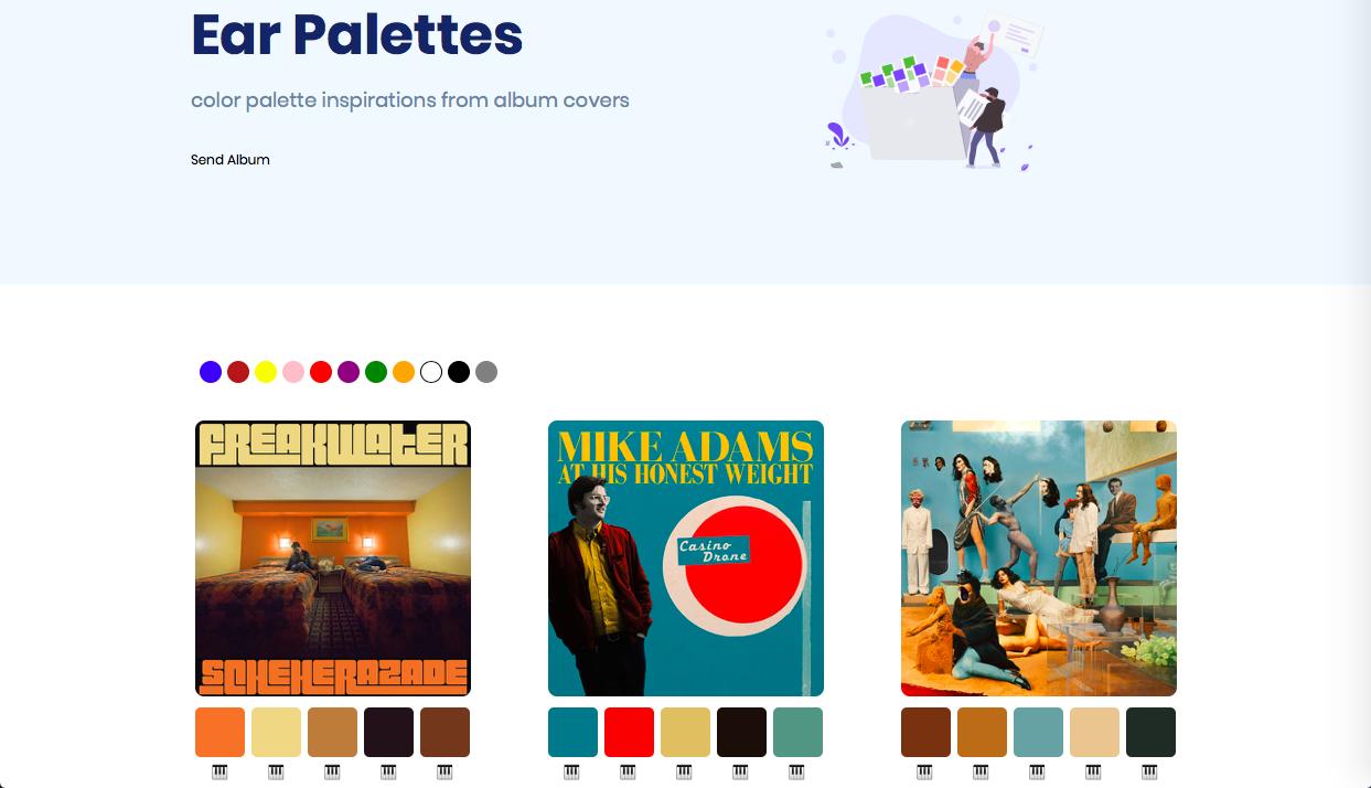 ear palettes - インスピレーション系カラーツールまとめ