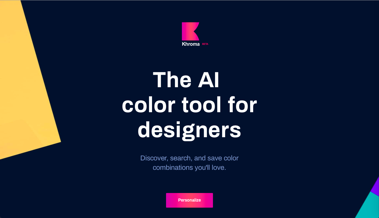 khroma - AI (人工知能)・ワンクリック系カラーツールまとめ
