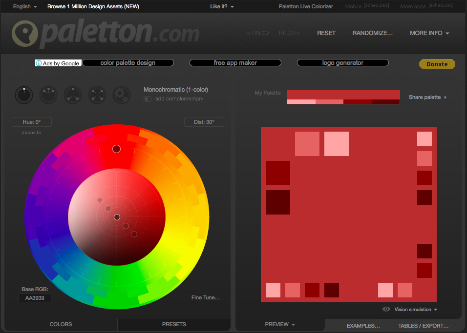 paletton.com  - Webデザイン・UIデザイン関連のカラーツールまとめ