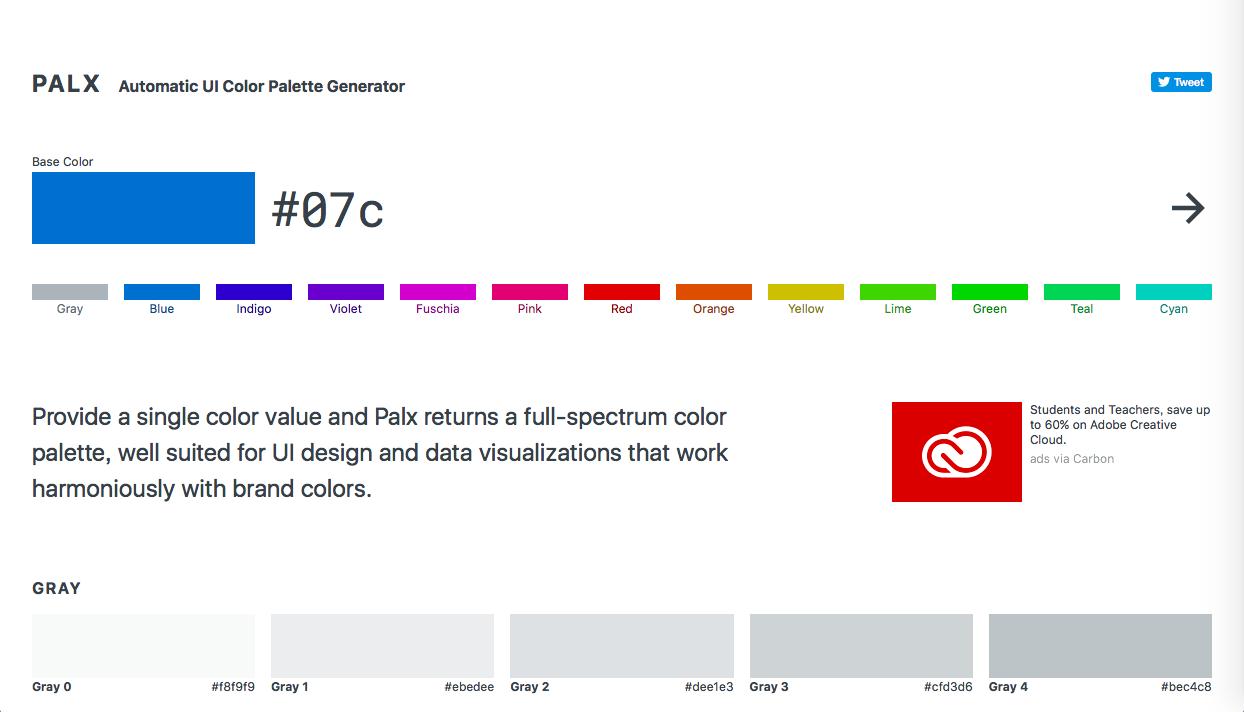 palx - Webデザイン・UIデザイン関連のカラーツールまとめ