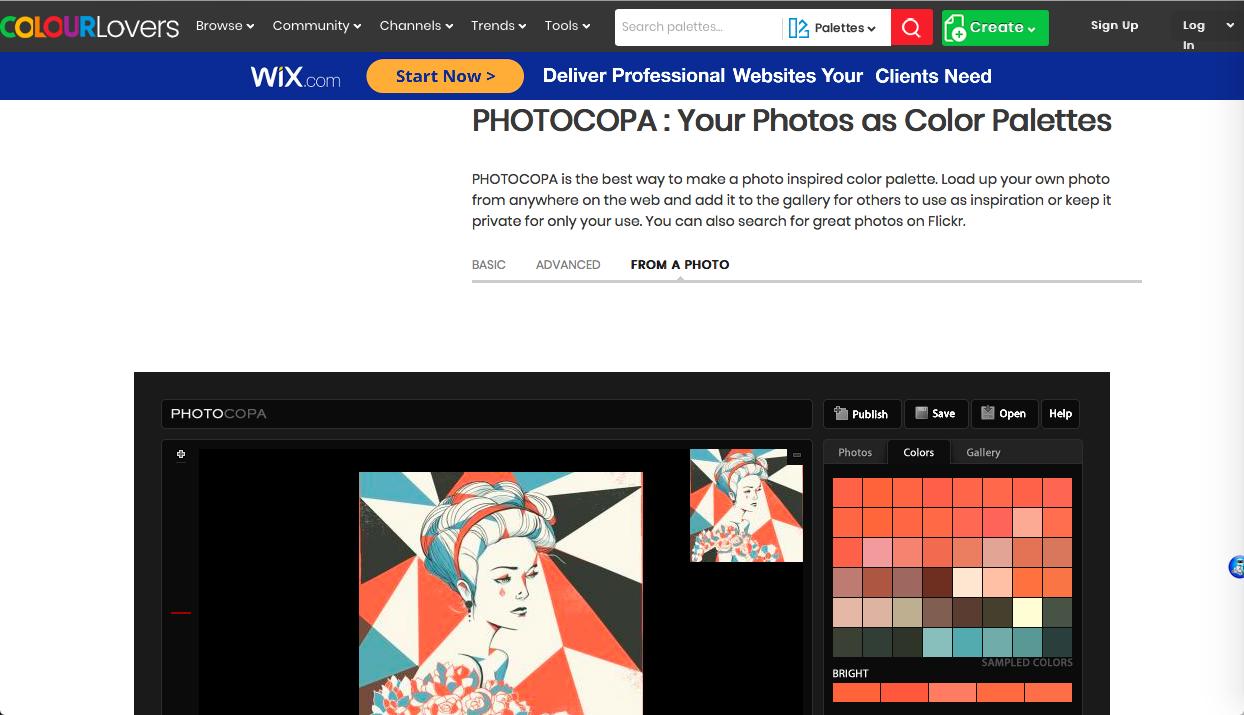 photocopa - 画像 (写真) から抽出・分析系カラーツールまとめ