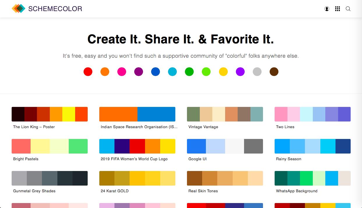 schemecolor - 普段使い可能な便利なカラーツールまとめ