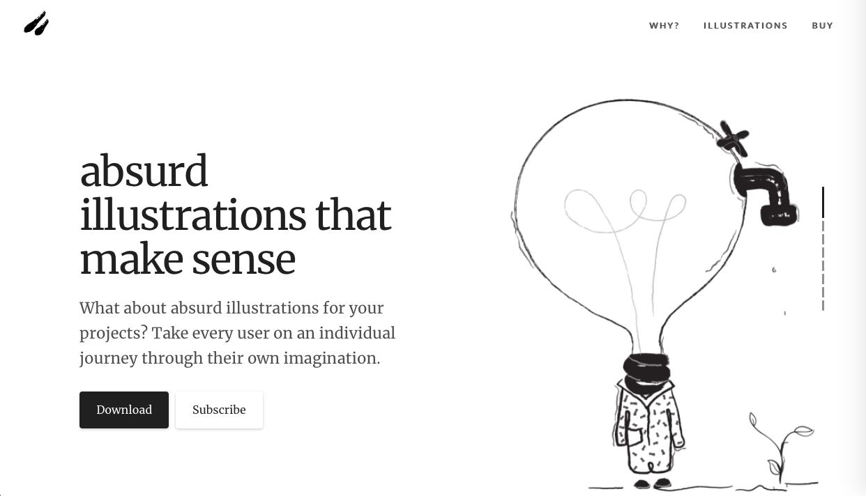 absurd design - デザイン性が高くお洒落な無料(フリー)のイラスト素材サイト・サービスまとめ