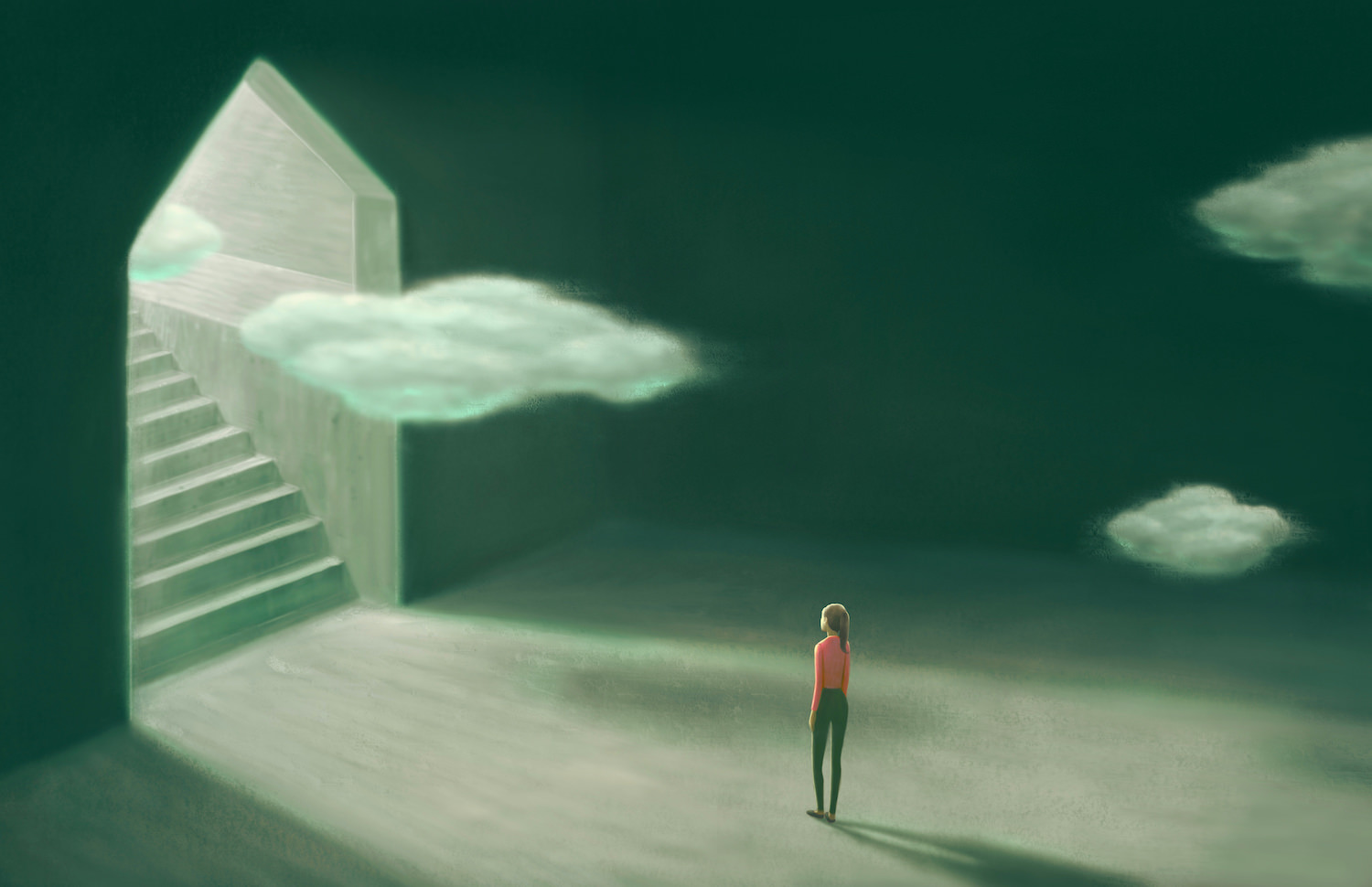 cloud-stairs-woman