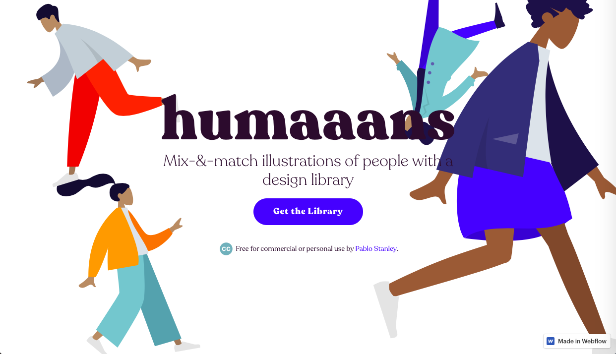 humaaans - 人物・動物系の無料(フリー)のイラスト素材サイト・サービスまとめ