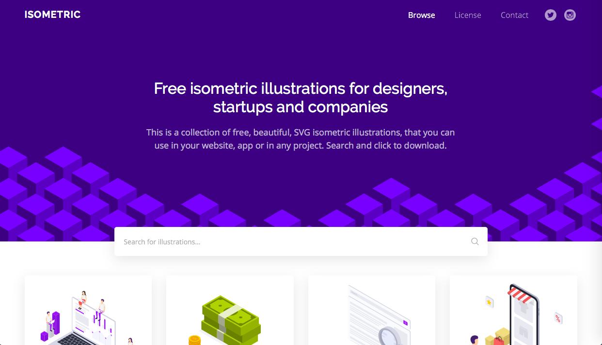 isometric - デザイン性が高くお洒落な無料(フリー)のイラスト素材サイト・サービスまとめ