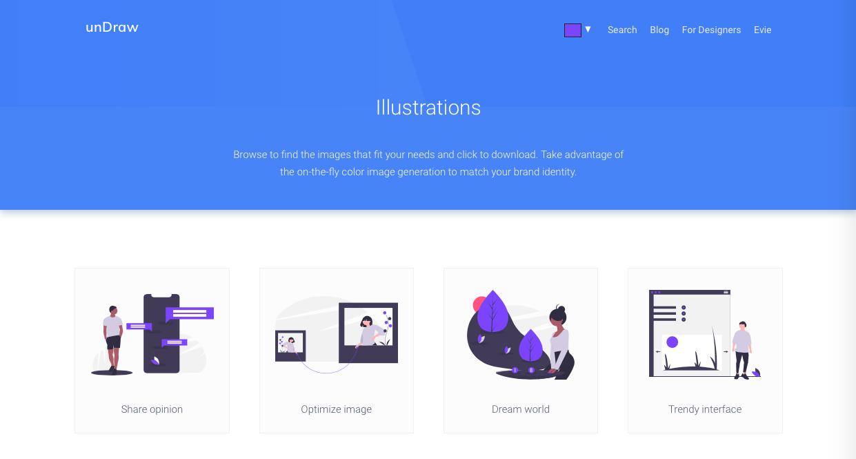 undraw - デザイン性が高くお洒落な無料(フリー)のイラスト素材サイト・サービスまとめ