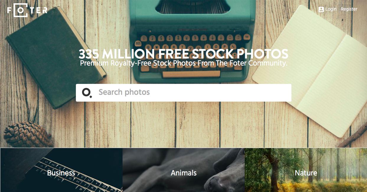 foter 1 - 無料 (フリー) の写真素材サイト・サービスまとめ「商用利用も可能」