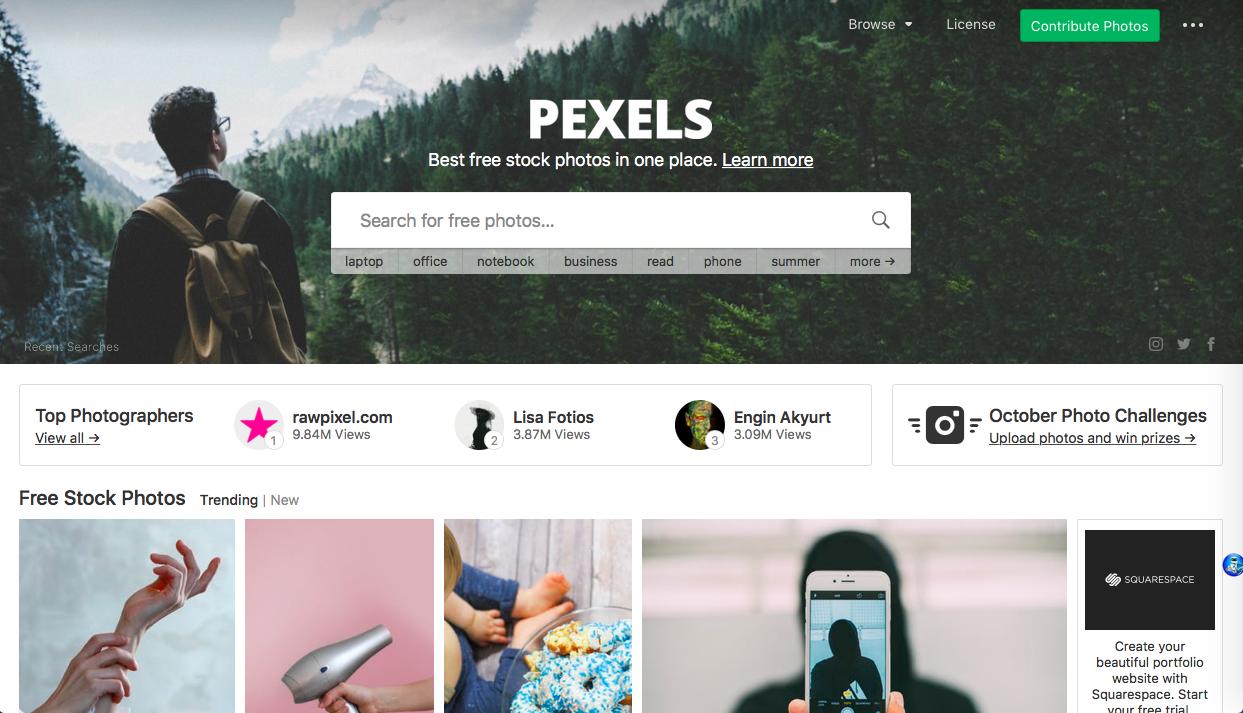 pexels 1 - 無料 (フリー) の写真素材サイト・サービスまとめ「商用利用も可能」