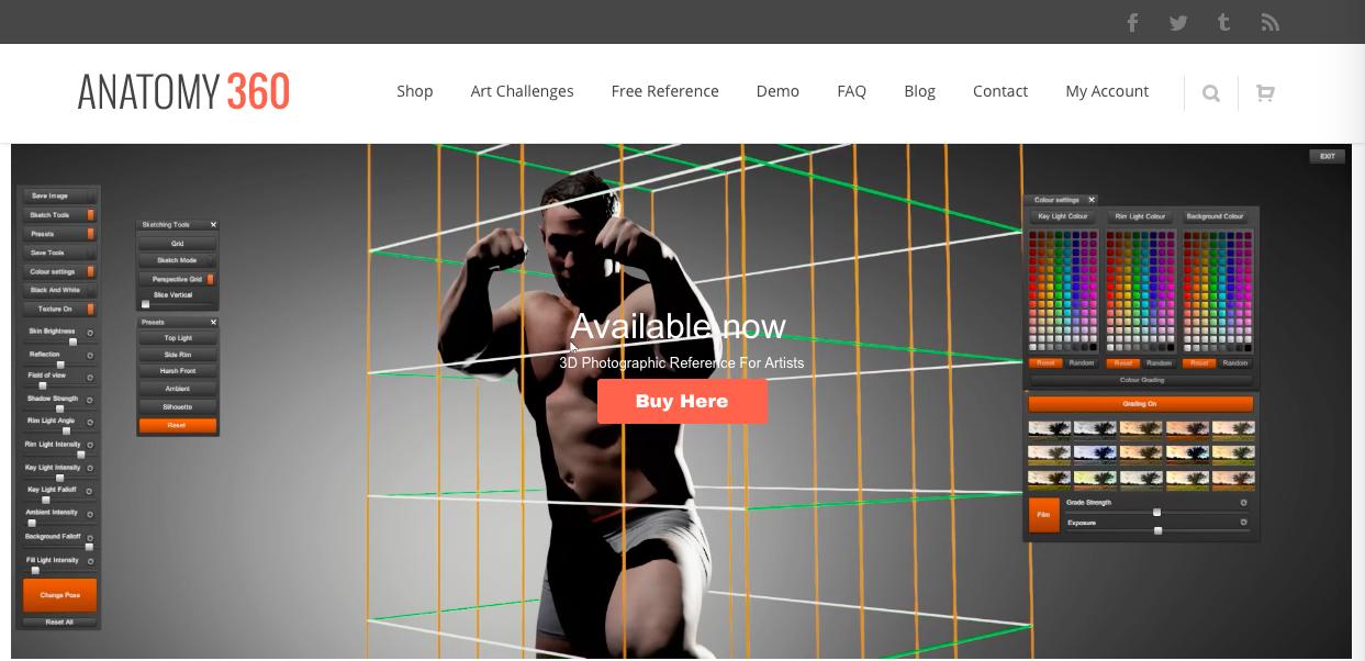 anatomy360 1 - イラストの制作・絵を描く上で資料や参考になるサイトまとめ12選