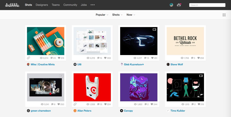dribbble 1 - デザイン・イラストのインスピレーションを引き出してくれるサイト・サービス