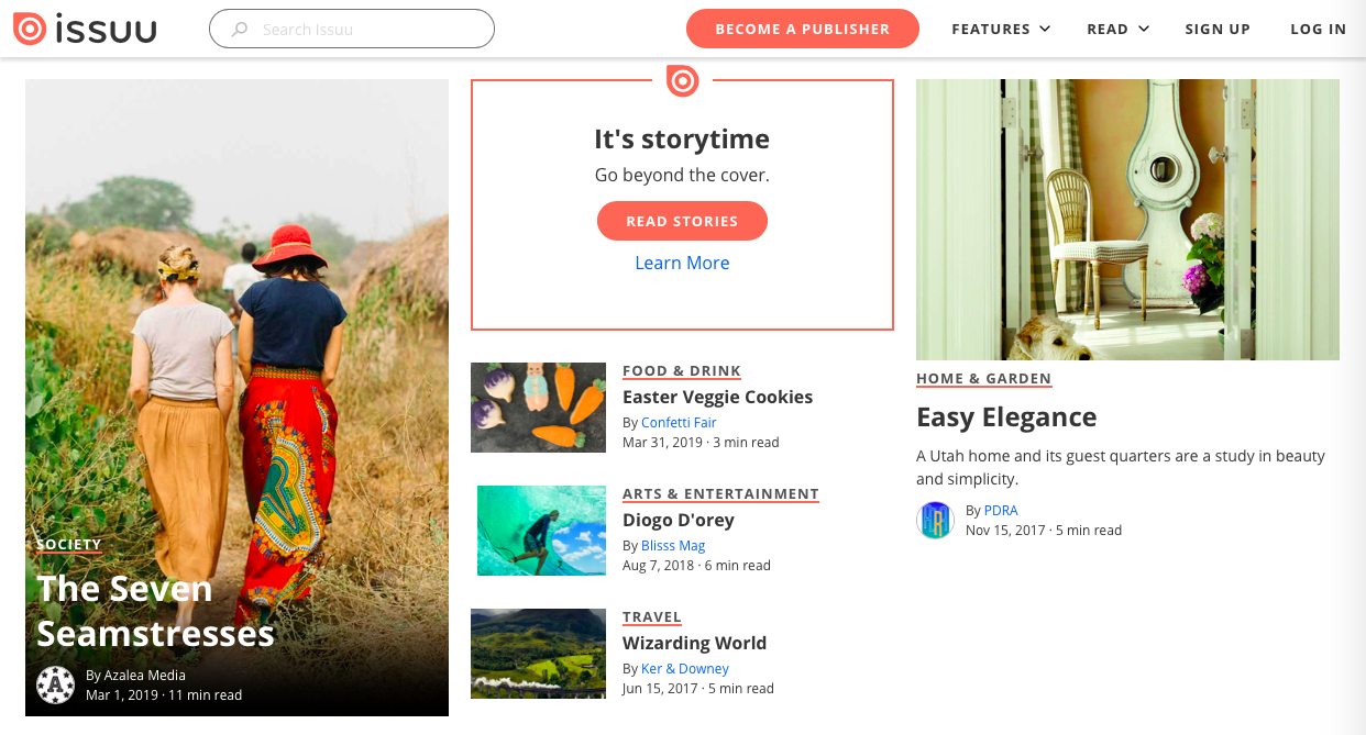 issuu - デザイン・イラストのインスピレーションを引き出してくれるサイト・サービス