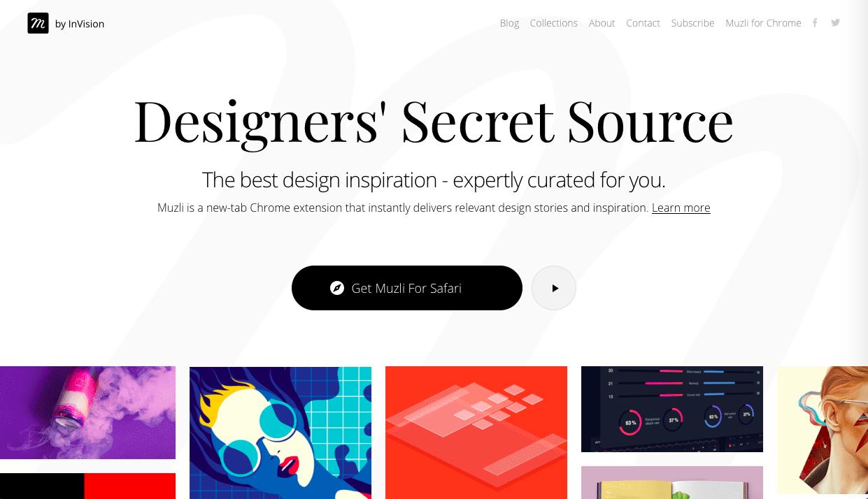 muzli - デザイン・イラストのインスピレーションを引き出してくれるサイト・サービス