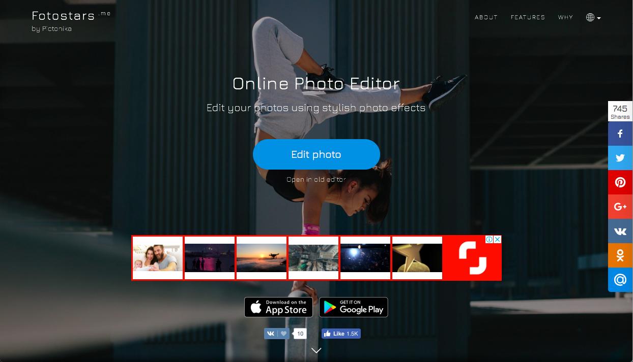 fotostars - シンプル系の無料画像編集・加工ツールまとめ