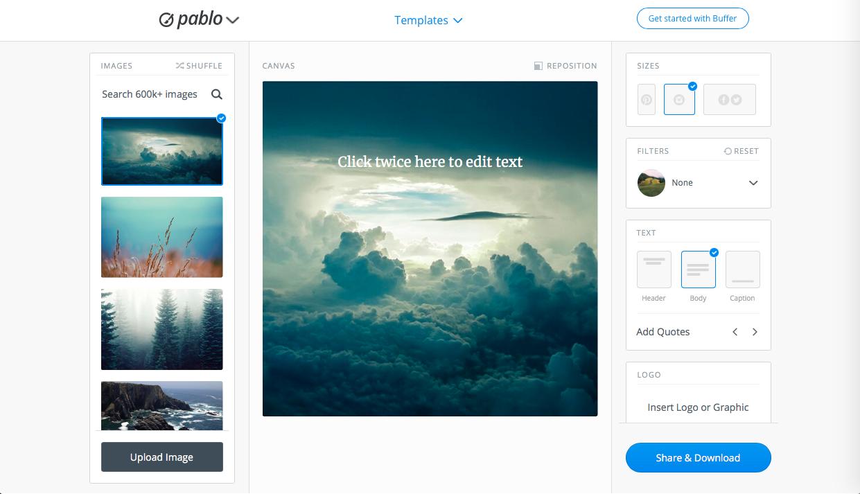 pablo - シンプル系の無料画像編集・加工ツールまとめ