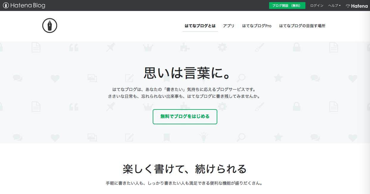 hatena blog - 無料でWebサイト(ホームページ)を作成する方法とツール