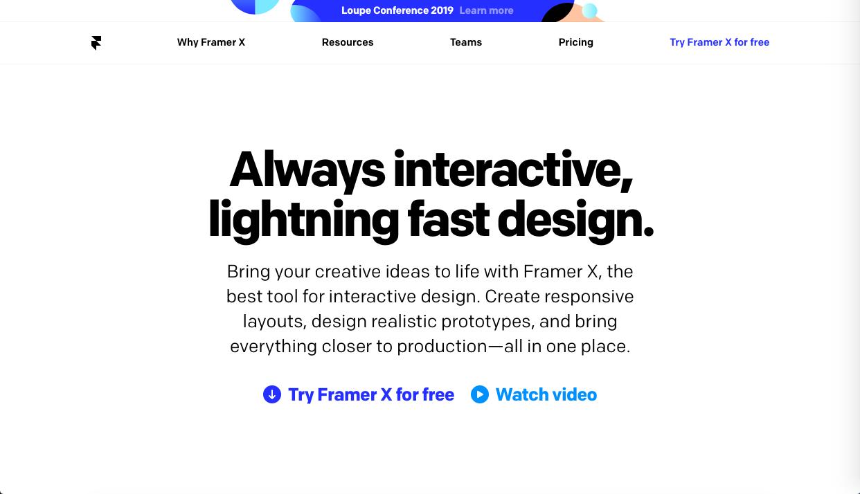 framer - 2021年UIデザインツール(プロトタイピングツール)の料金・機能や特徴の比較