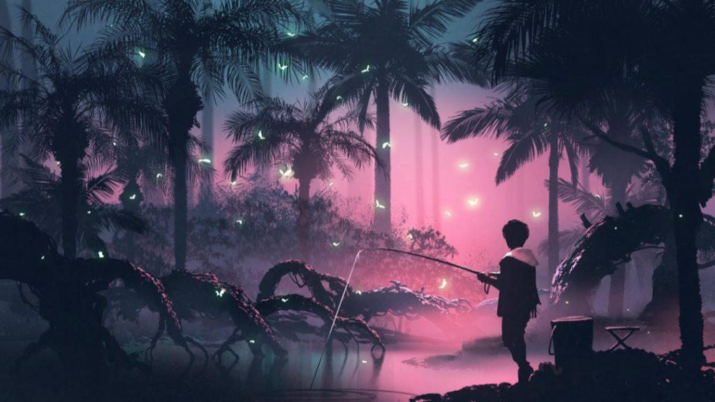 human-woods-fishing