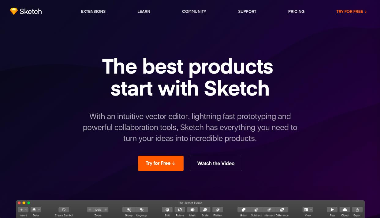 sketch - 2021年UIデザインツール(プロトタイピングツール)の料金・機能や特徴の比較