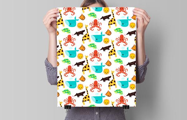 childrens flat animal pattern - Adobe Illustratorのチュートリアルの一覧まとめ