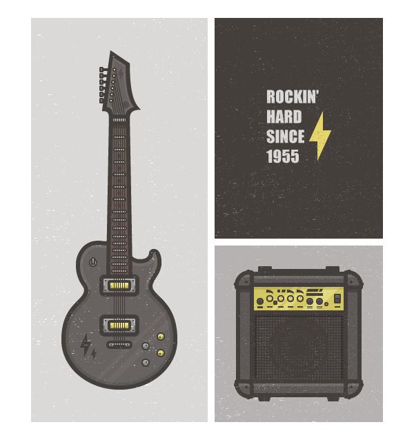 flat minimalist rock card - Adobe Illustratorのチュートリアルの一覧まとめ