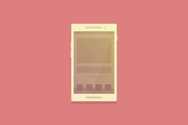 flat smartphone illustration - Adobe Illustratorのチュートリアルの一覧まとめ