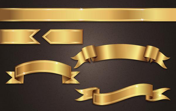 gold ribbon - Adobe Illustratorのチュートリアルの一覧まとめ