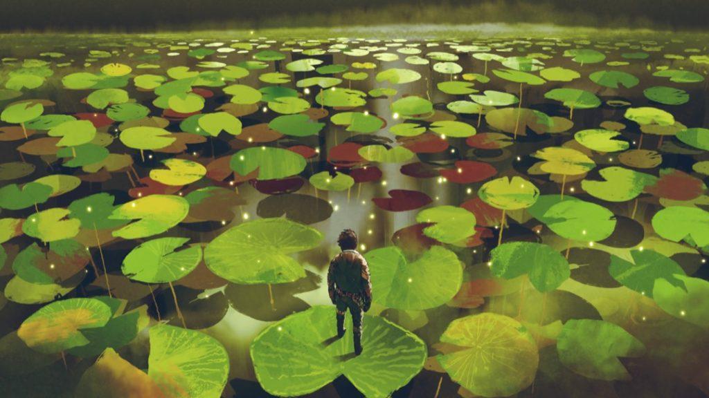 human-pond-lotus
