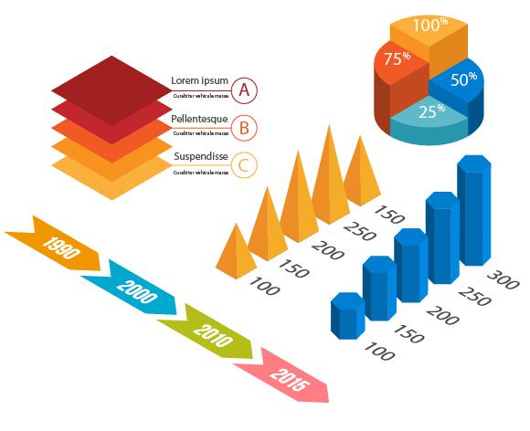 infographic elements - Adobe Illustratorのチュートリアルの一覧まとめ