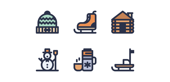 winter icons - Adobe Illustratorのチュートリアルの一覧まとめ