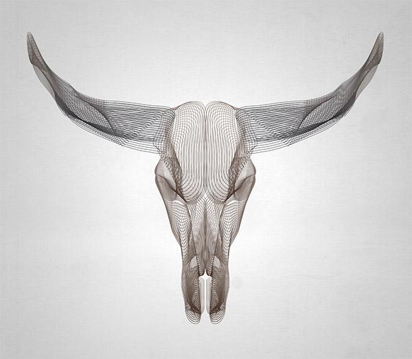 wireframe animal skulls - Adobe Illustratorのチュートリアルの一覧まとめ