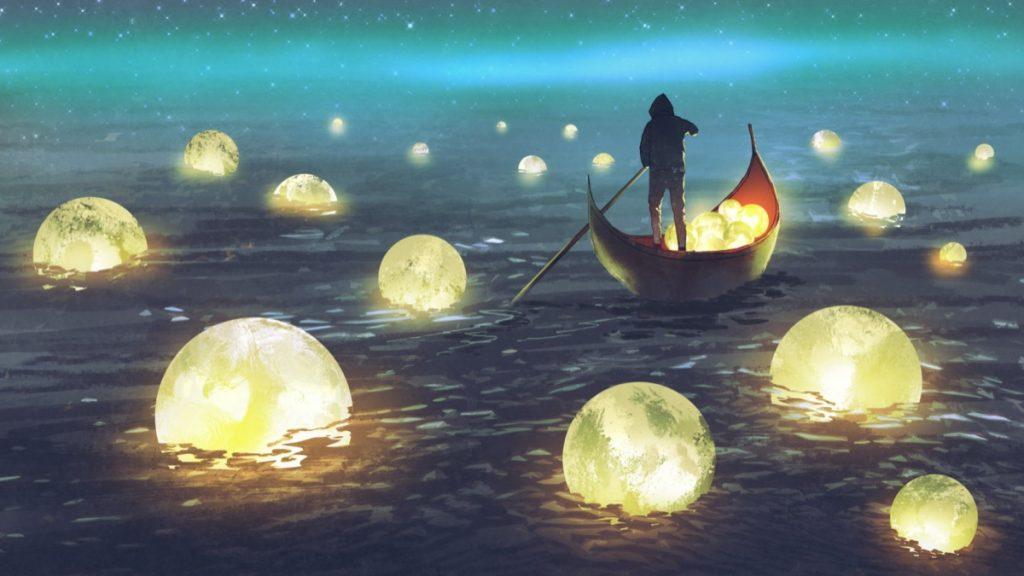 human-moon-ship