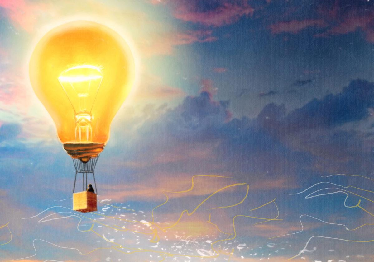 lamp-sky-human
