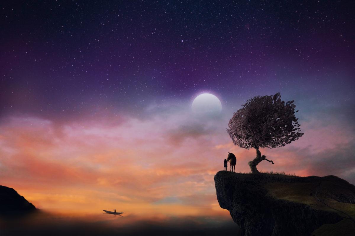 moon-sky-human-horse