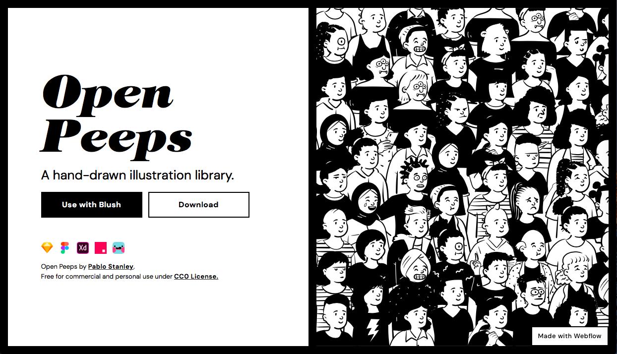 open peeps - 人物・動物系の無料(フリー)のイラスト素材サイト・サービスまとめ