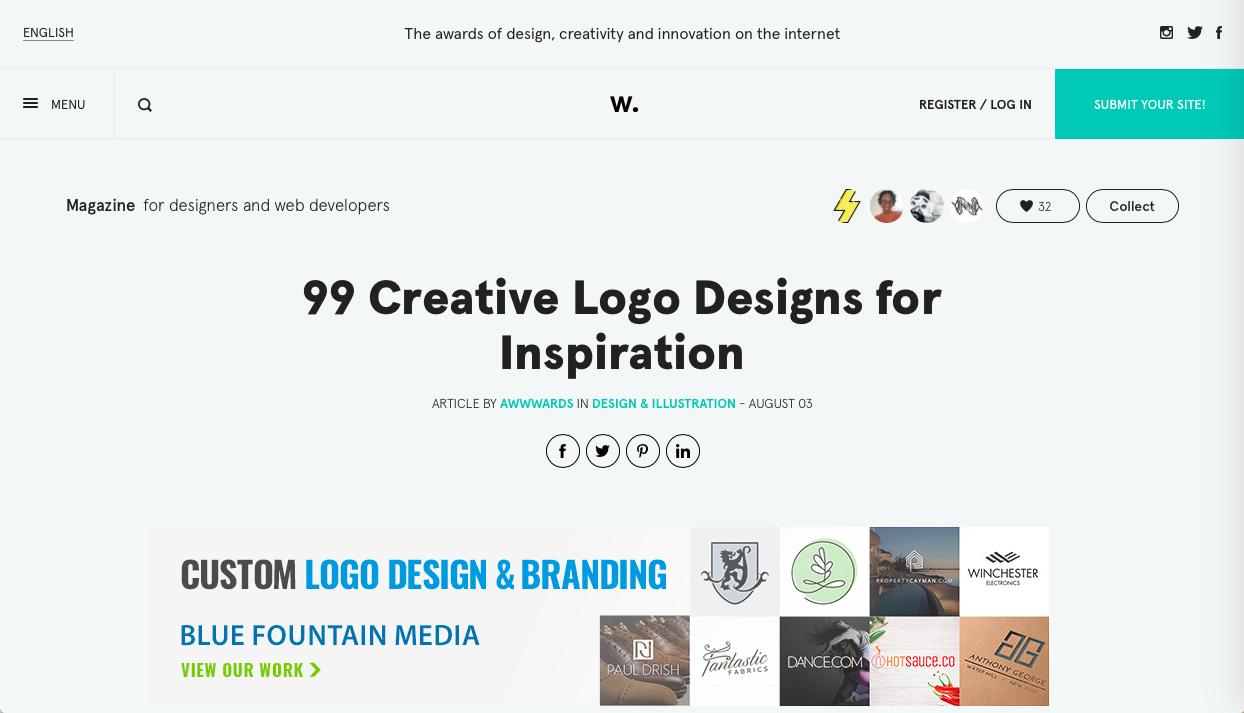 99 creative logo designs - ロゴデザインの参考になるWebサイト・ギャラリーサイトまとめ
