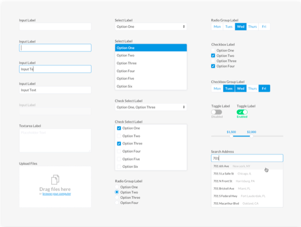 basic form elements sketch resource - 無料で利用できるSketch用のUIキット・デザイン素材まとめ