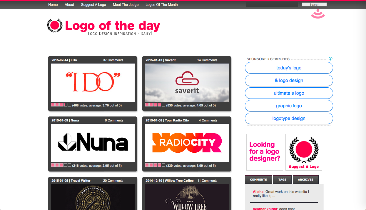 logo of the day - ロゴデザインの参考になるWebサイト・ギャラリーサイトまとめ