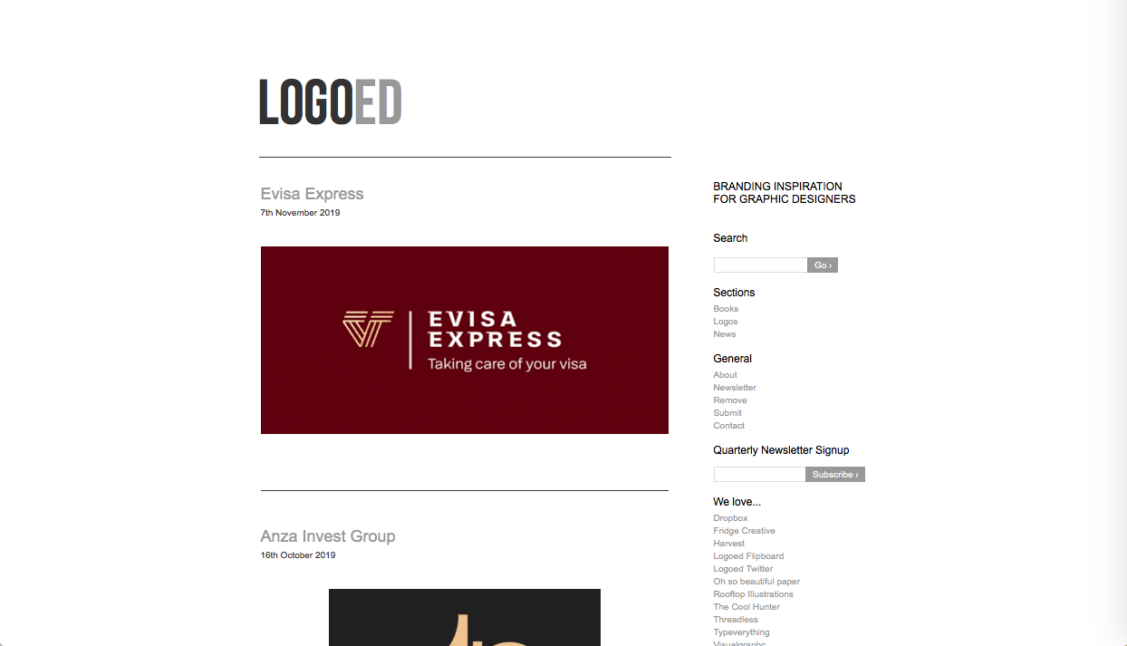 logoed - ロゴデザインの参考になるWebサイト・ギャラリーサイトまとめ