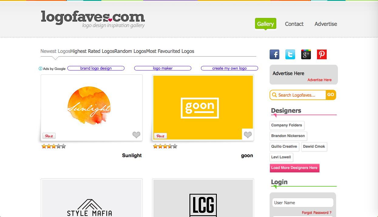 logofaves - ロゴデザインの参考になるWebサイト・ギャラリーサイトまとめ