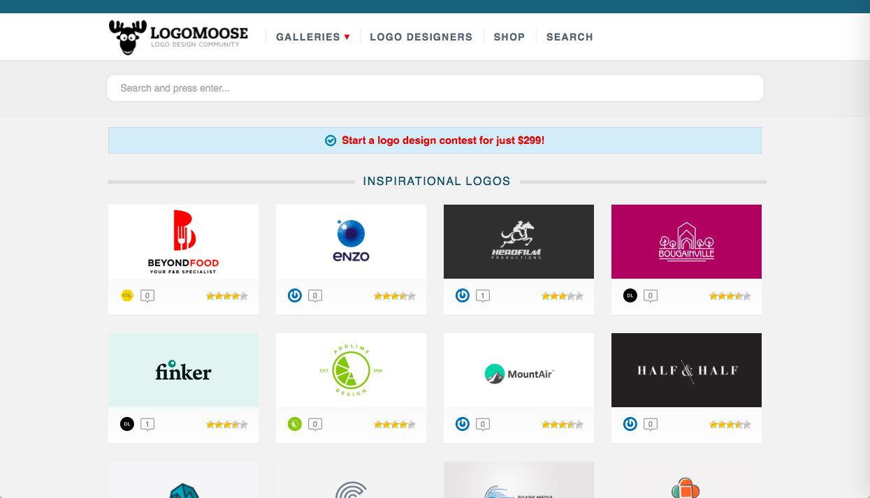logomoose - ロゴデザインの参考になるWebサイト・ギャラリーサイトまとめ