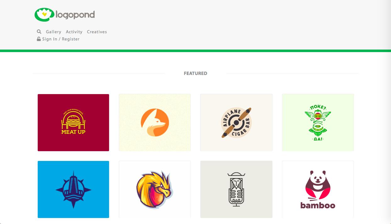 logopond - ロゴデザインの参考になるWebサイト・ギャラリーサイトまとめ