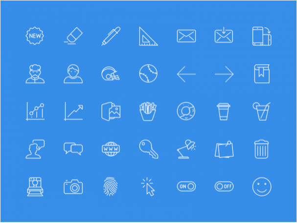 100 useful icons sample sketch resource - 無料で利用できるSketch用のUIキット・デザイン素材まとめ