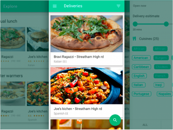 food delivery app sketch resource - 無料で利用できるSketch用のUIキット・デザイン素材まとめ
