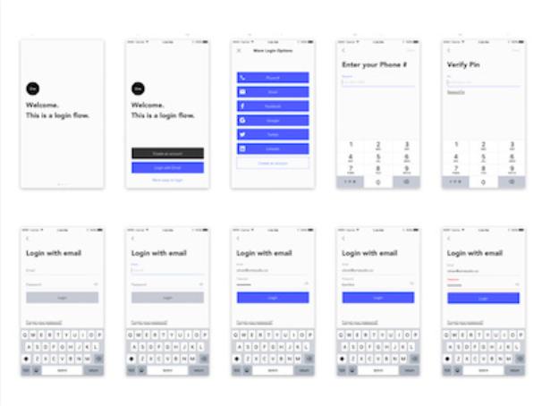 login screens ui kit sketch resource - 無料で利用できるSketch用のUIキット・デザイン素材まとめ