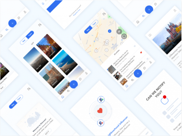 real estate app ui kit sketch resource - 無料で利用できるSketch用のUIキット・デザイン素材まとめ