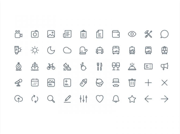 significa icon set sketch resource - 無料で利用できるSketch用のUIキット・デザイン素材まとめ